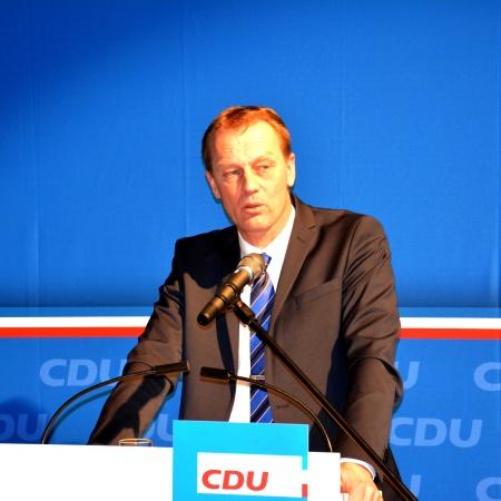 Kreisvorsitzender Johannes Callsen berichtet über die Arbeit des Kreisverbandes